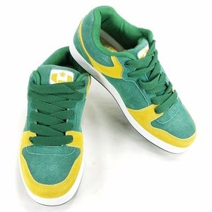 Green Bay Packers Colors Lace Up Sneakers Shoes